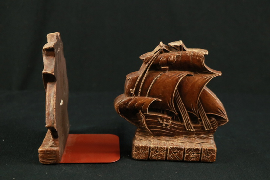 Pair Of Clipper Ship Book Ends