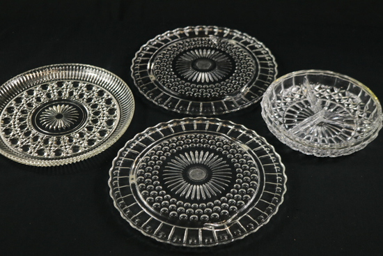 4 Assorted Glass Trays