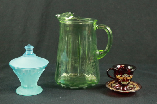Pitcher, Candy Dish, & Cup/Saucer