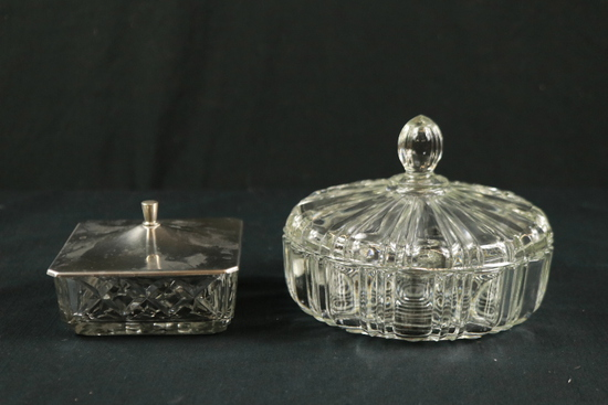 2 Covered Candy Dishes