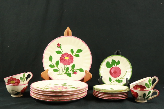Blue Ridge Pottery Plates & Cups