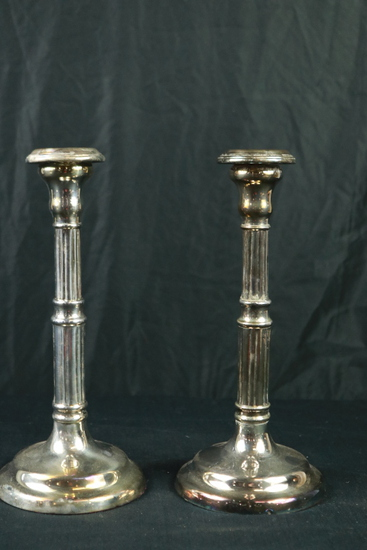 Pair of Silver Plated Candle Sticks