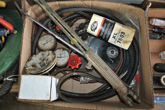 Box of Assorted, Torch, Gauges & Head