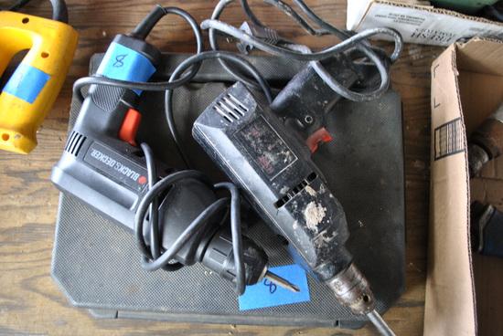 2 Drills & Box of Drill bits