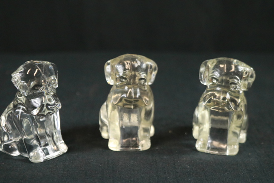 3 Glass Dogs