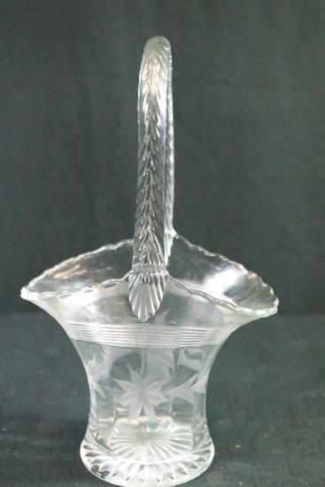 Etched Glass Basket