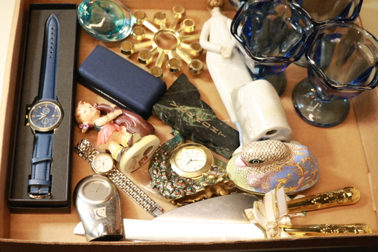 Flat Of Misc. Watches & Glass