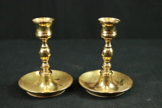 Pair Of Baldwin Brass Candlesticks
