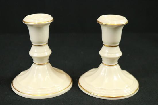 Pair Of Lenox Candlesticks