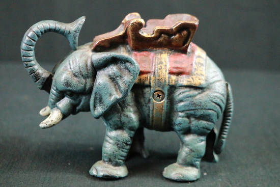 Antique Cast Iron Elephant Bank