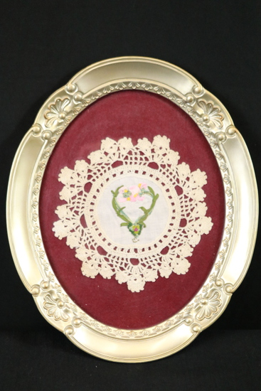 Oval Frame with Embroidery