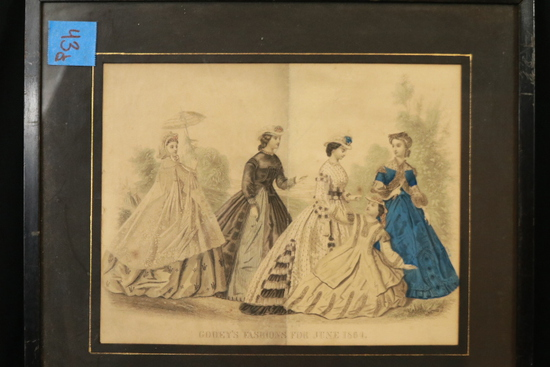 2 French Fashion Prints Framed
