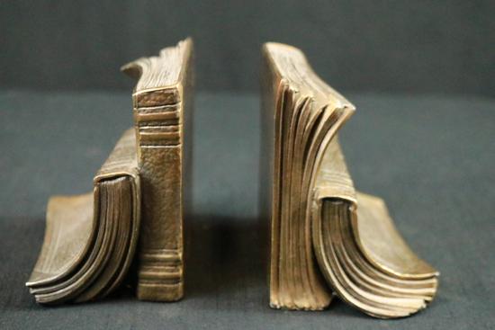 2 Brass Book Ends