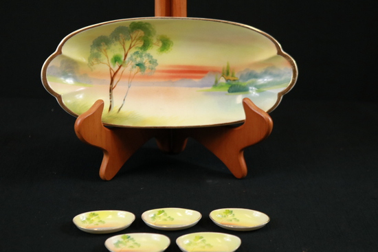 Nippon Tray With Condiment Plates