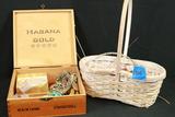 Box & Basket Of Costume Jewelry
