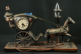 Horse & Buggy Clock And Lamp