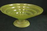 Large Green Pedestal Bowl