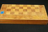 Wooden Checker Set