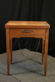Sewing Cabinet With Singer Sewing Machine