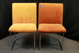 2 Mid Century Chairs With Metal Legs