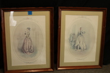 2 Colonial Style Framed Prints