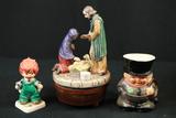 2 Goebel Figurines & Music Box