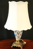 Moon Dot Glass Lamp With Brass Base