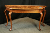 Queen Anne Cherry & Burl Top Hall Table