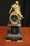 Pre 1890 French Figural Mantle Clock