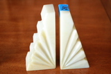 Pair of Alabaster Book Ends