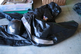 Leather Pants, Chaps, TNS Helmet, Bike Bag