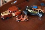 3 Wooden Model Cars