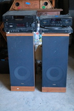 2 Speakers, Record Player & Receivers