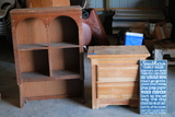 2 Drawer Nightstand, Sign & Shelf Top