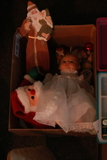 Box of Sewing & Christmas Décor