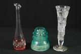 Insulator & 2 Vases