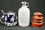 Insulator, Vinegar Bottle, & Stein