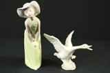 Girl & Goose Lladro Figurines