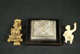 Brass Door Knocker, Roy Rogers Figurine, Masonic Paper Weight