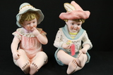 Girl & Boy Figurines By Sadler