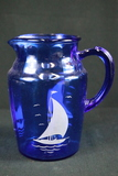 Blue Sailboat Pitcher