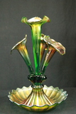 Carnival Glass Epergne