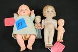 4 Antique Dolls