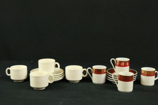 2 Porcelain Partial Tea Sets