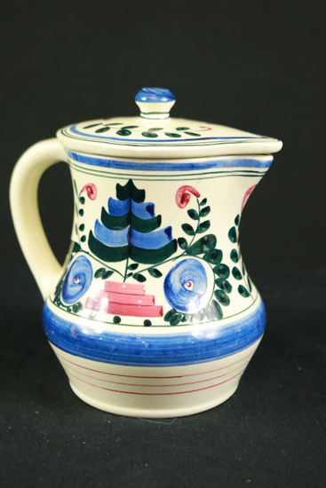 Persian Ware German Covered Pitcher