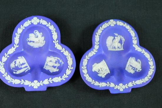 2 Wedgwood Dark Blue Trays