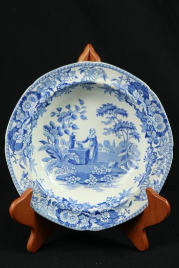 Blue Spode Bowl & Blue Staffordshire Bowl