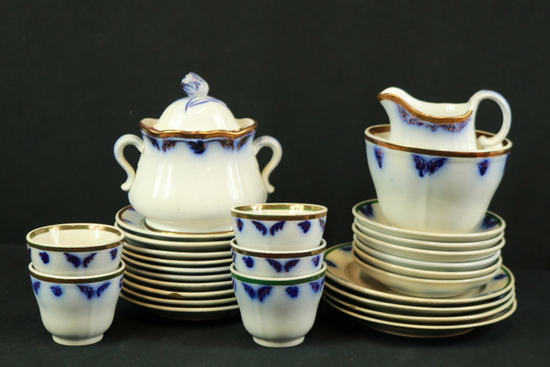 Partial Set Of Flow Blue China