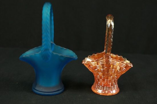 Westmoreland Glass Basket & Carnival Glass Basket