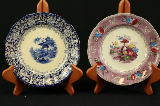 3 English Porcelain Plates
